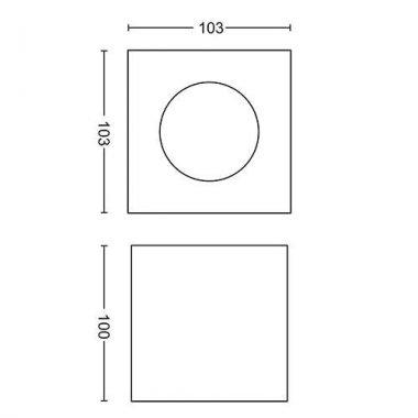 Přisazené bodové svítidlo LED 50491/30/P0-3