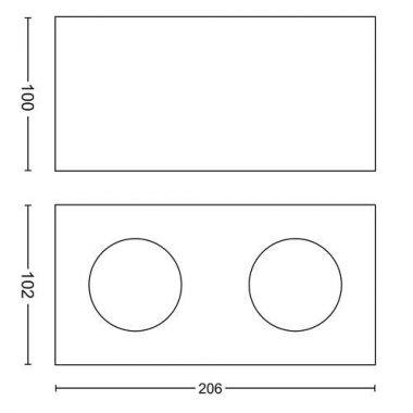 Přisazené bodové svítidlo LED 50492/31/P0-3