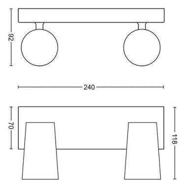 Přisazené bodové svítidlo LED 50572/31/PN-3