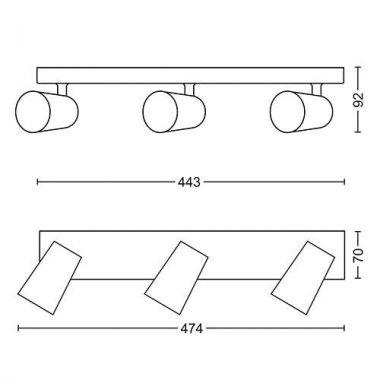 Přisazené bodové svítidlo LED 50573/48/PN-3