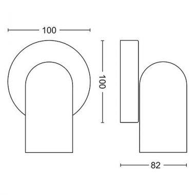 Přisazené bodové svítidlo LED 50581/31/PN-3