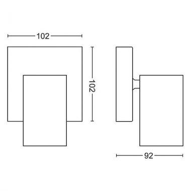Přisazené bodové svítidlo LED 50591/30/PN-3