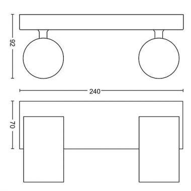 Přisazené bodové svítidlo LED 50592/48/PN-3