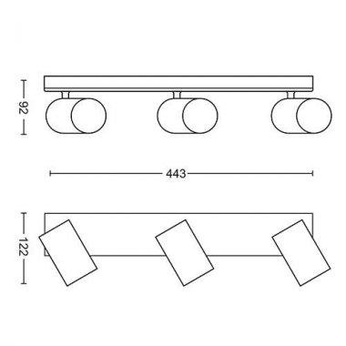Přisazené bodové svítidlo LED 50593/48/PN-3
