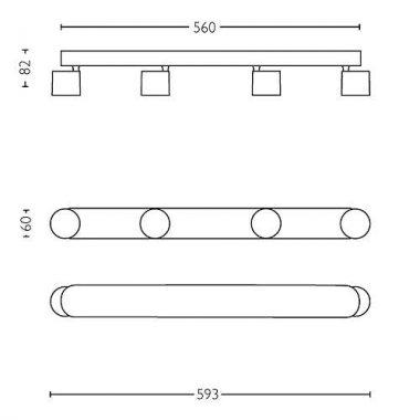 Přisazené bodové svítidlo LED 56244/31/P0-2
