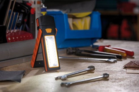 Svítidlo - baterka Work Light oranžová/černá s magnetem a háčkem - PAULMANN-1