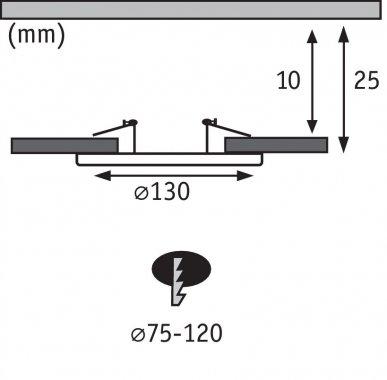 Adaptér kartáč.železo pro zápust.otvory 75-120mm P 92498-3