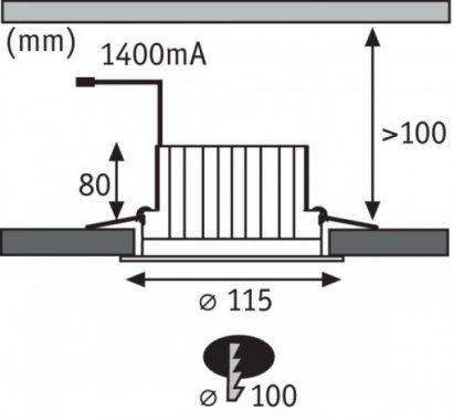 Vestavné bodové svítidlo 230V LED  P 92638-2