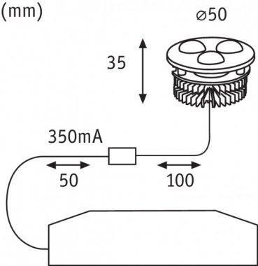 Vestavné bodové svítidlo 230V LED  P 93708-2
