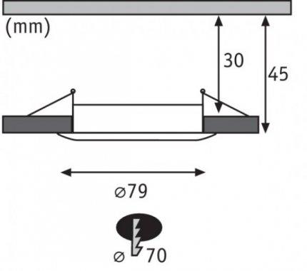 Koupelnové osvětlení LED  P 93968-3