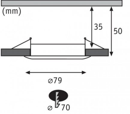 Koupelnové osvětlení LED  P 93976-4