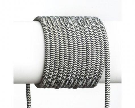 FIT textilní kabel 3X0,75 1bm černá-1