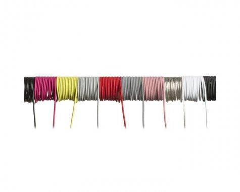 FIT textilní kabel 3X0,75 1bm červená-1