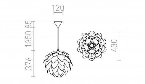 Lustr/závěsné svítidlo R12383-1