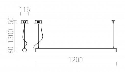 Lustr/závěsné svítidlo  LED R12948-4