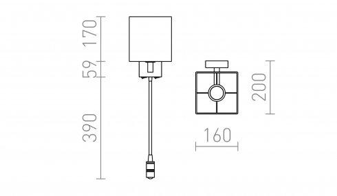 Nástěnné svítidlo  LED R12956-3