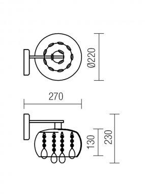 Nástěnné svítidlo RD 01-1012-1