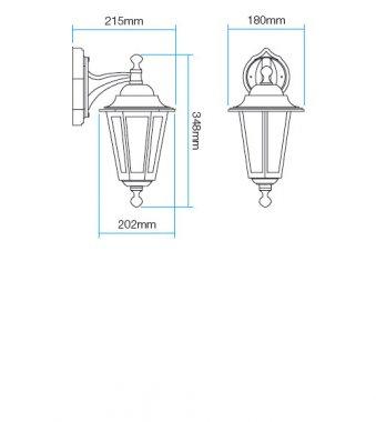 Venkovní svítidlo nástěnné RD 6102N-1